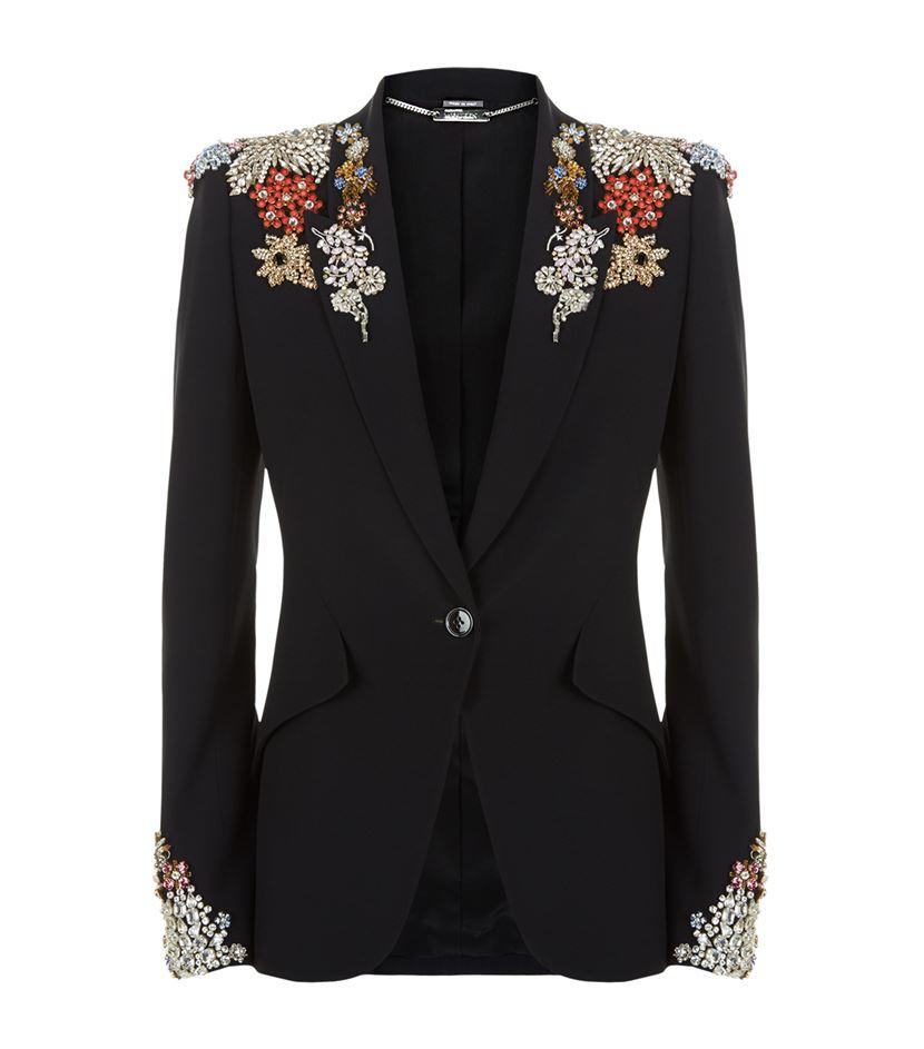 Crepe Jacket Alexander Embellished McQueen Lyst zEZA6