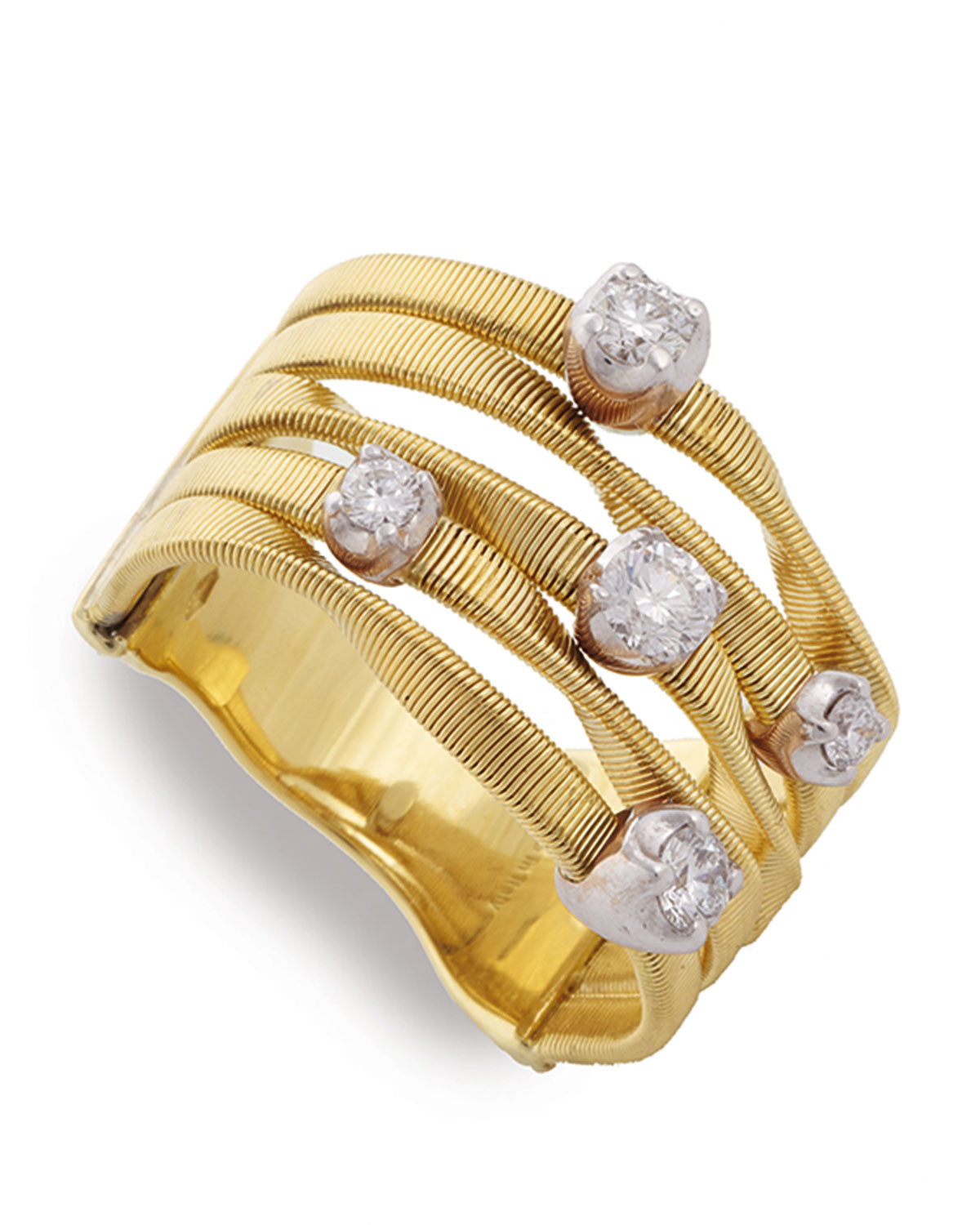 Marco Bicego Marrakech Three-Row Crossover Ring 547pFX