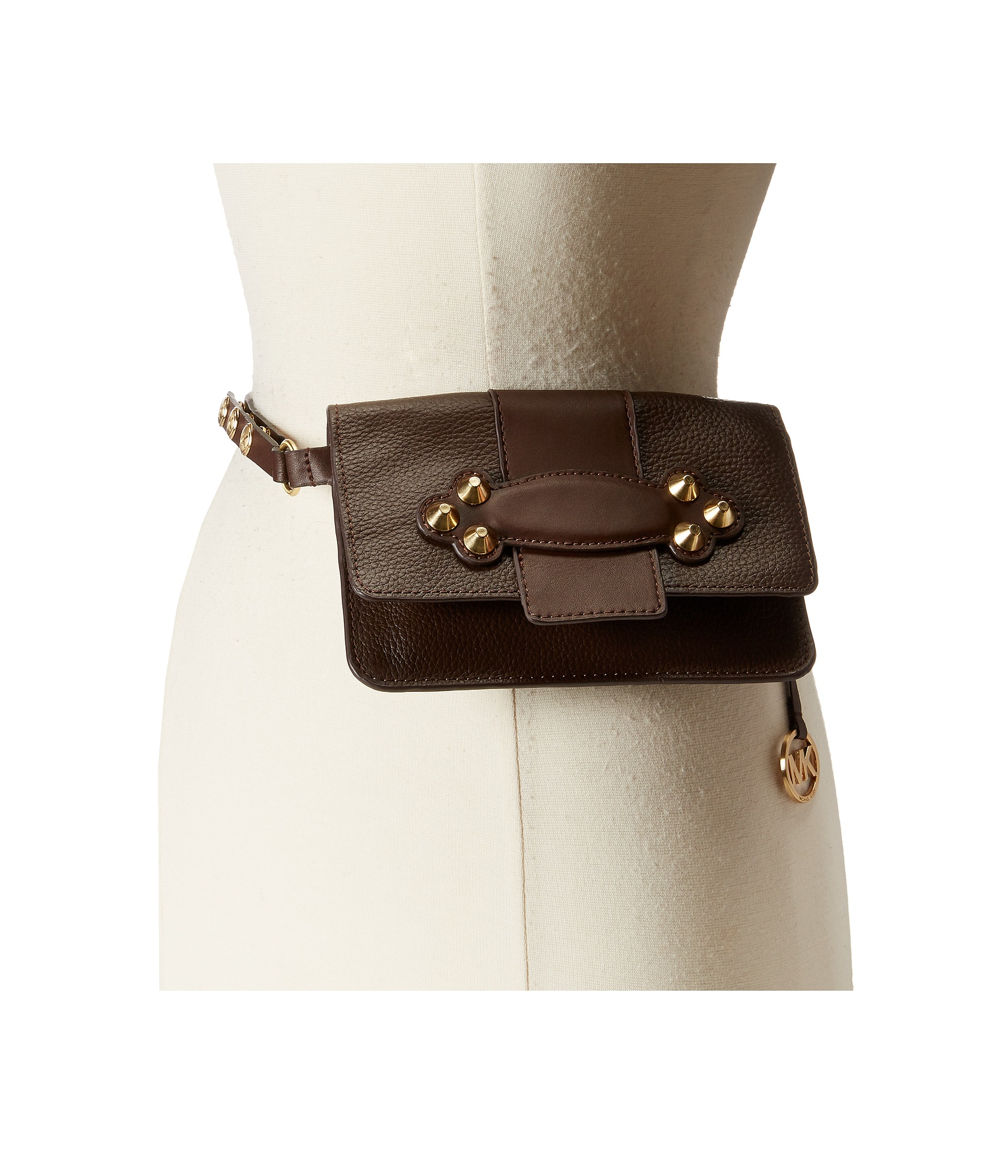 89365eddf03947 MICHAEL Michael Kors Shrunken Leather Belt Bag With Smooth Padded ...