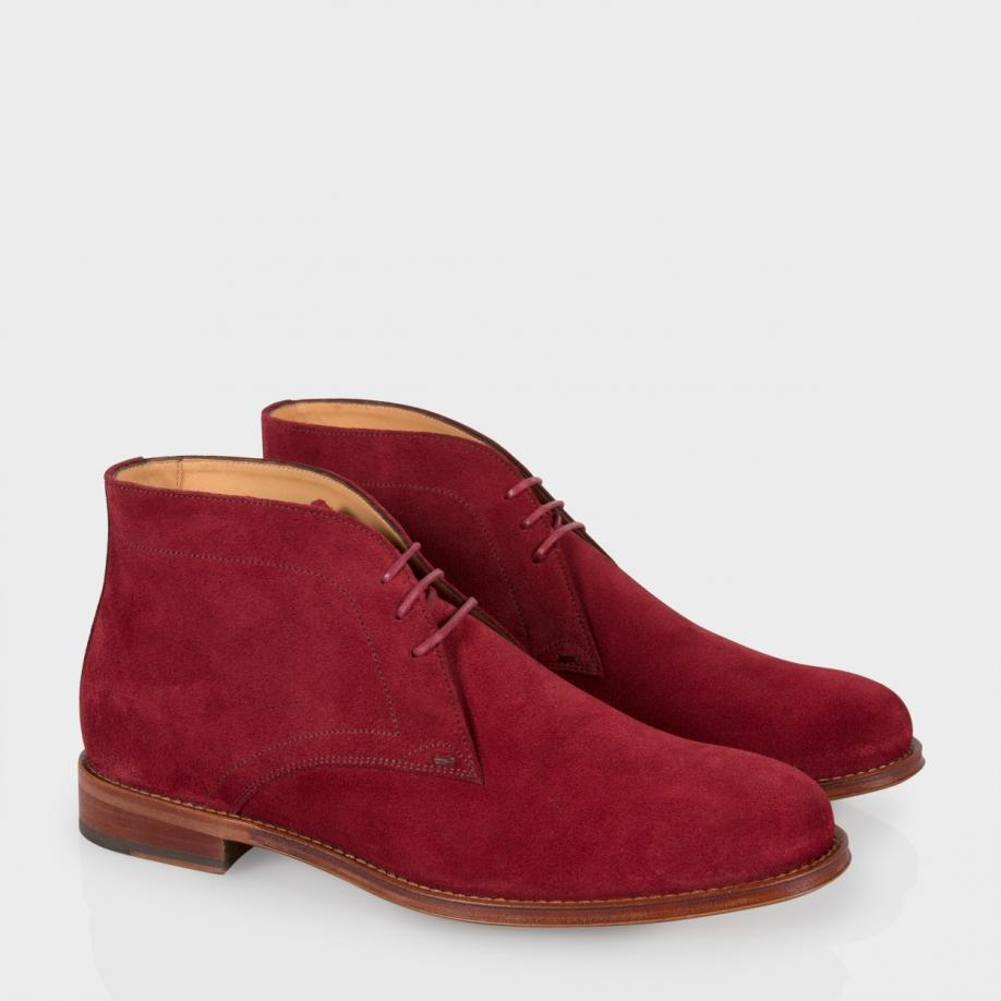 Mens leather gloves for iphone - Paul Smith Morgan Suede Desert Boots In Red For Men Burgundy Lyst