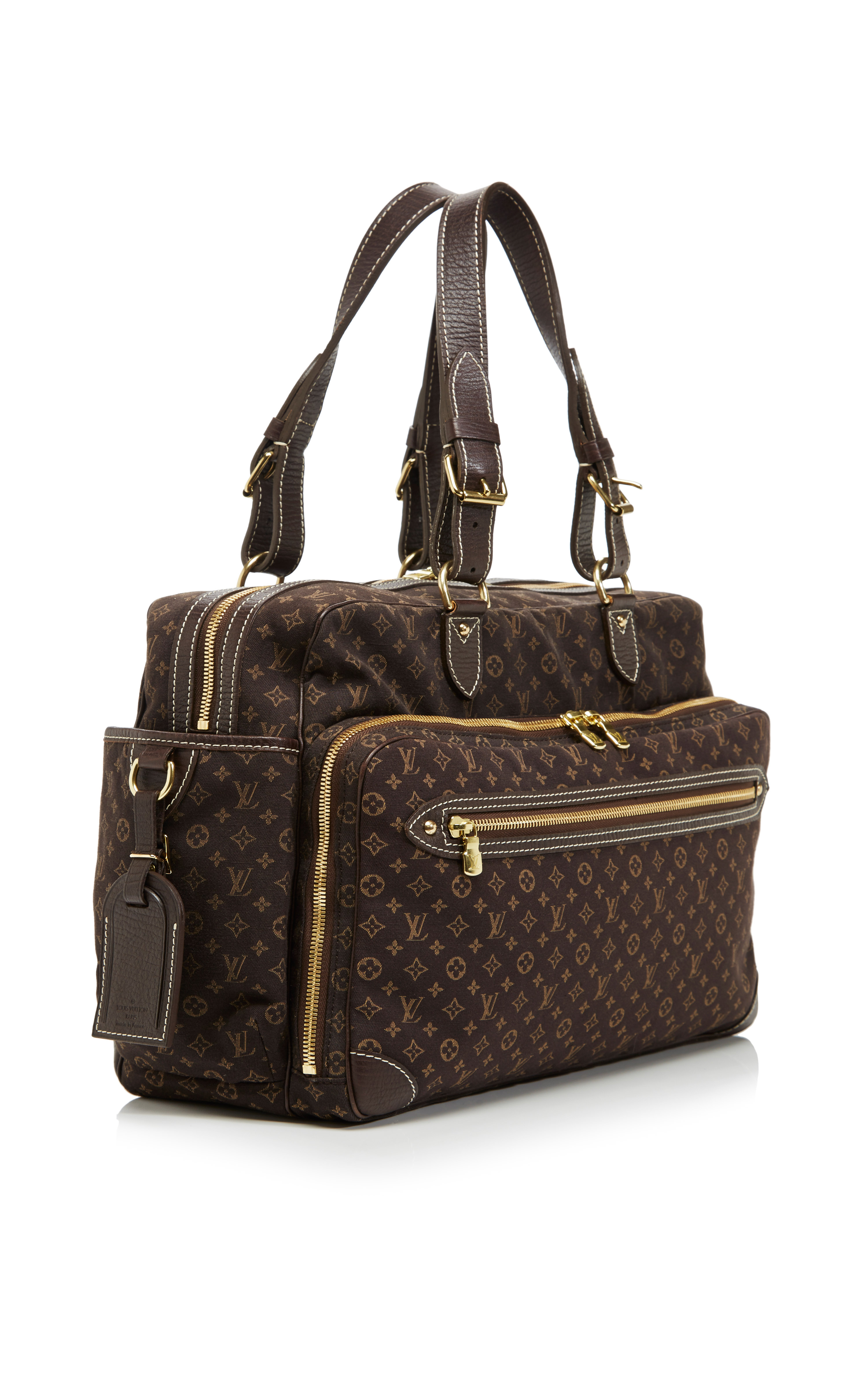 lyst louis vuitton monogram mini lin sac a langer in brown. Black Bedroom Furniture Sets. Home Design Ideas