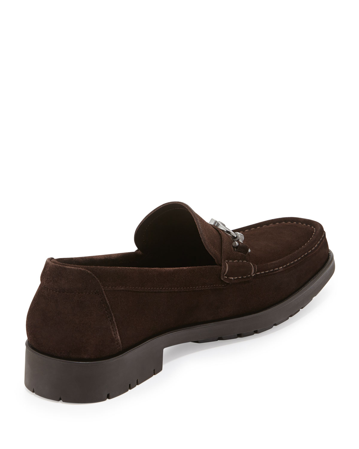 Ferragamo Neiman Marcus Ferragamo Master Suede Gancini Loafer Brown For Men Save