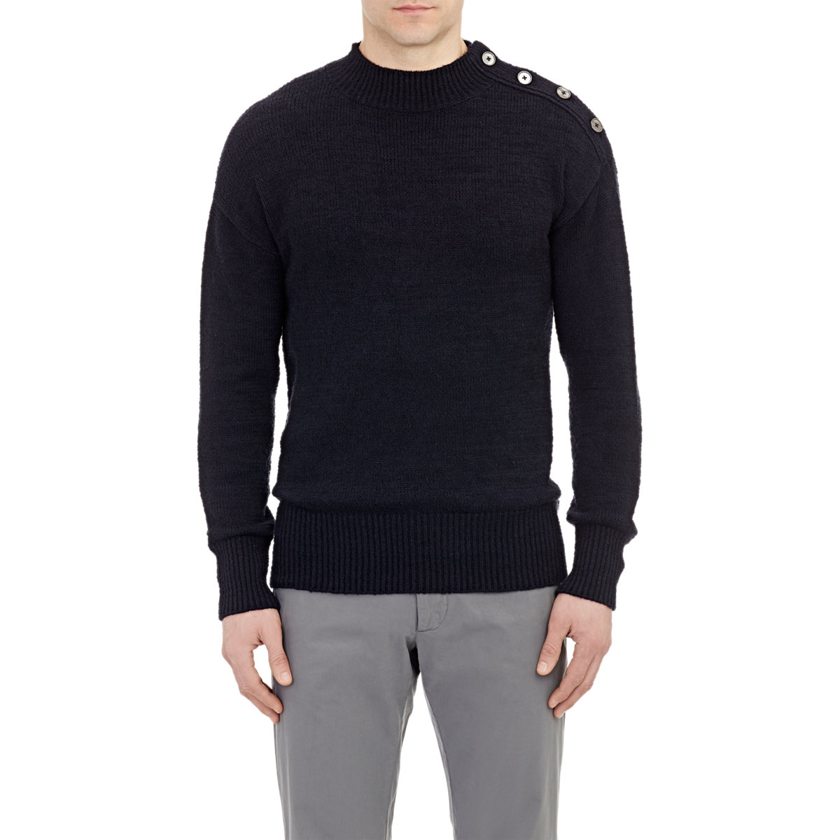 Camoshita Button-Shoulder Sweater in Blue for Men | Lyst