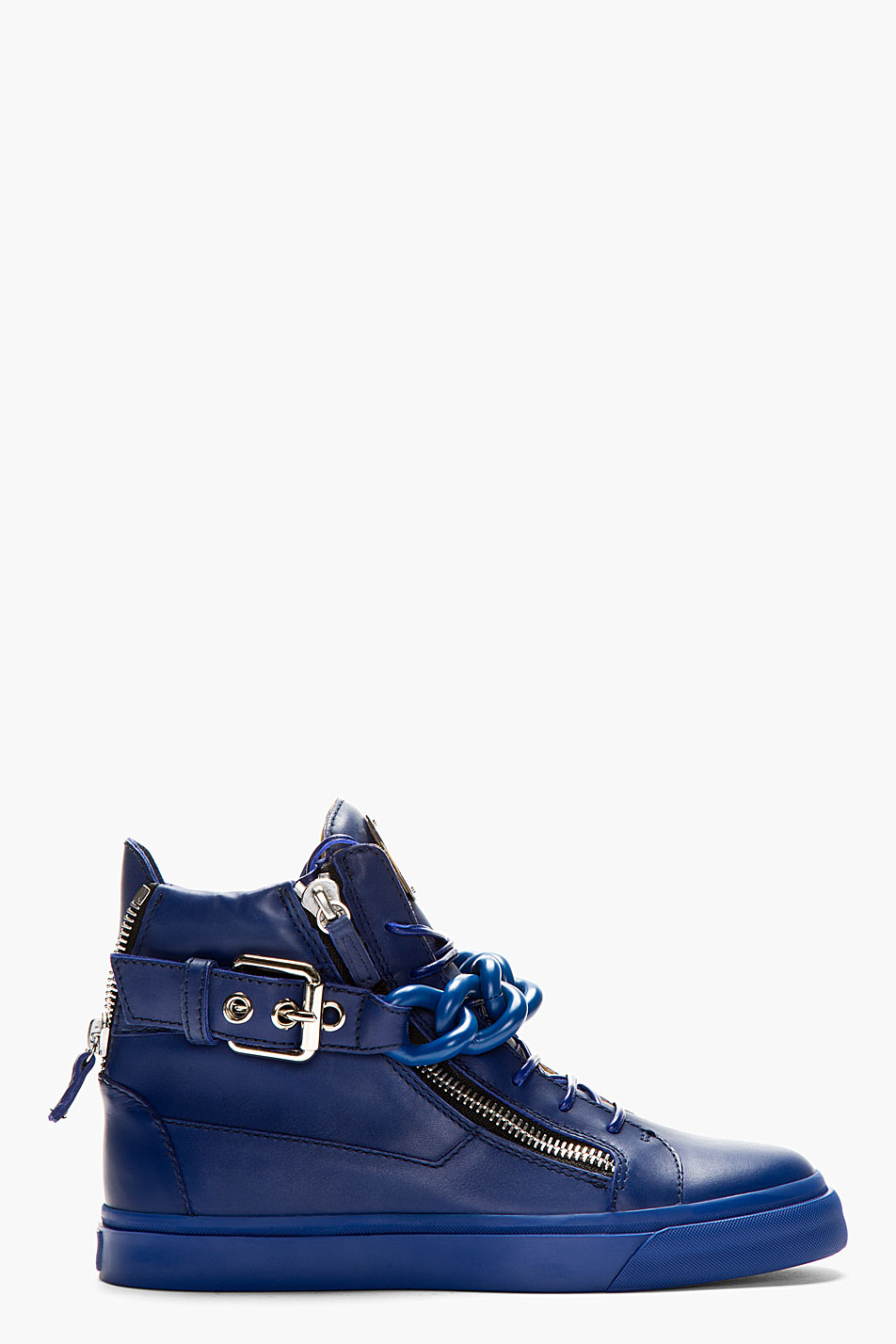 Giuseppe Zanotti Chain Detail Hi-Top Sneakers in Blue for ... Giuseppe Zanotti Sneakers Blue