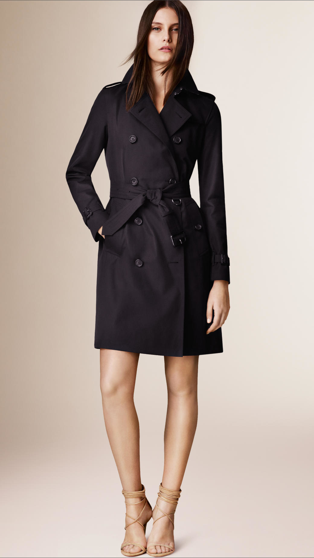 Burberry The Kensington – Long Heritage Trench Coat Navy ...
