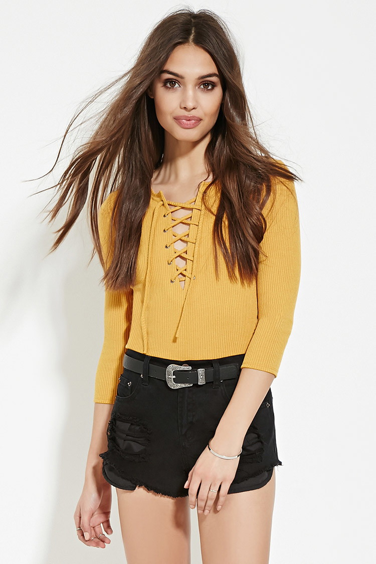 7fcdd85069036b Yellow Tops Forever 21