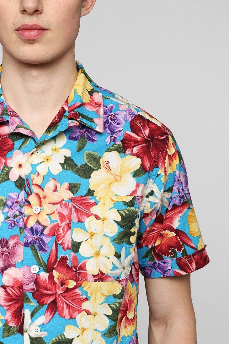Monitaly 80s Flower Vacation Buttondown Shirt for Men - Lyst
