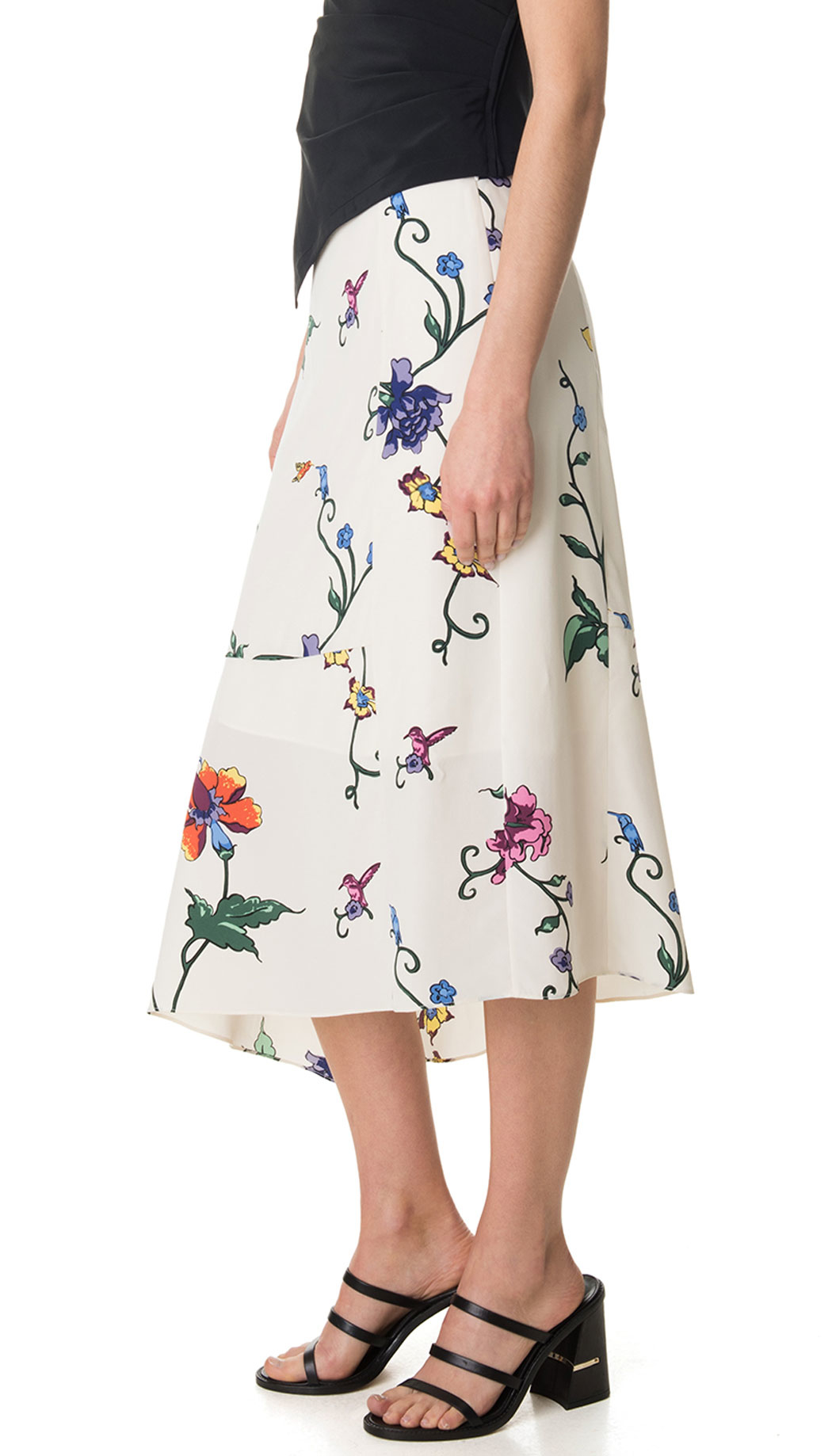 fcdd13a646 Tibi Bella Floral Asymmetrical Skirt - Lyst