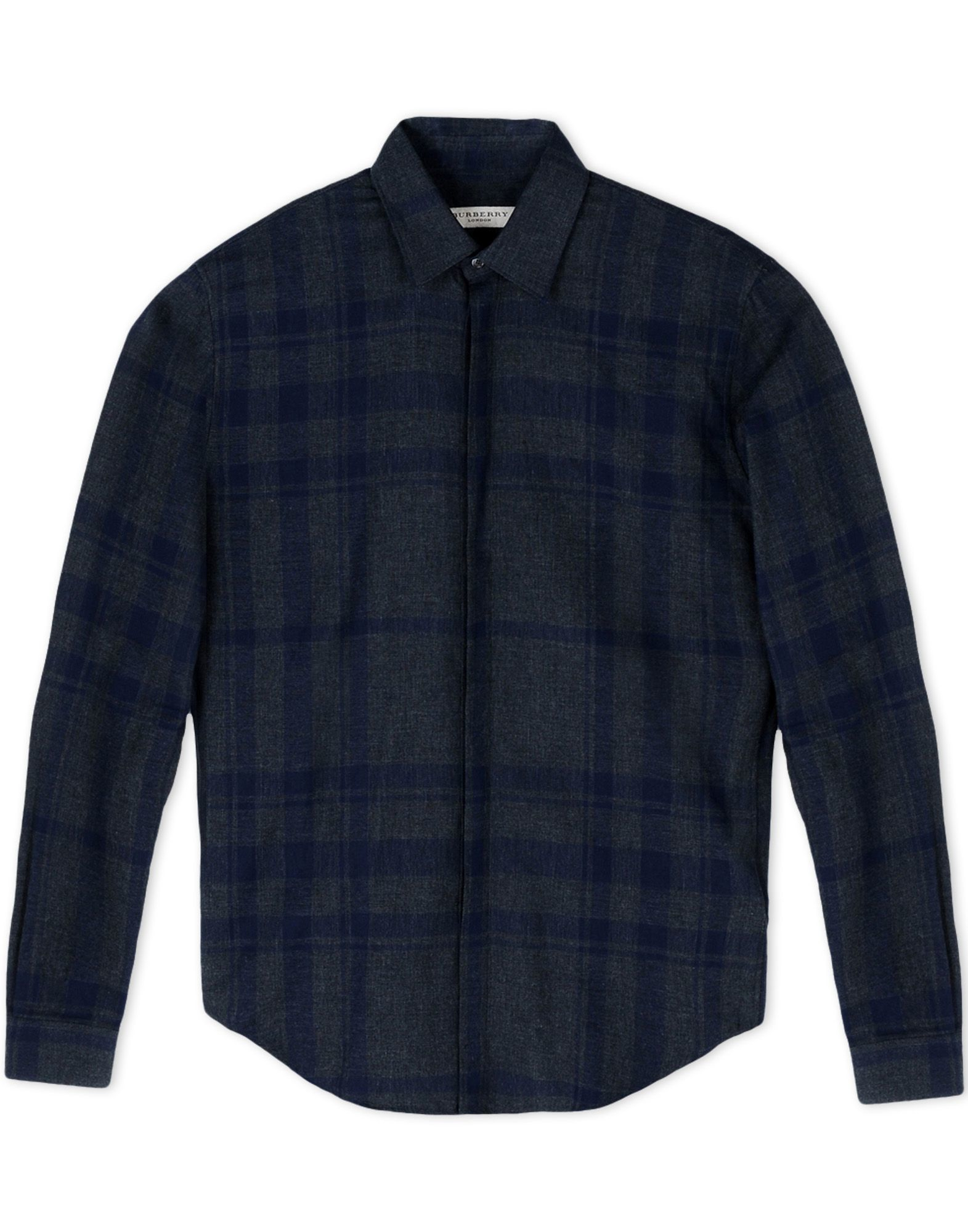 Burberry London Long Sleeve Shirt In Gray For Men Steel