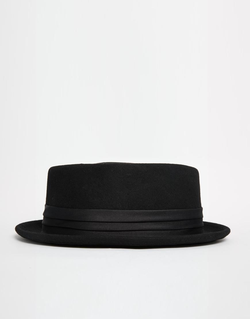 5a629a3e0a6 ... closeout lyst brixton pork pie hat in black for men bcaa3 32d81
