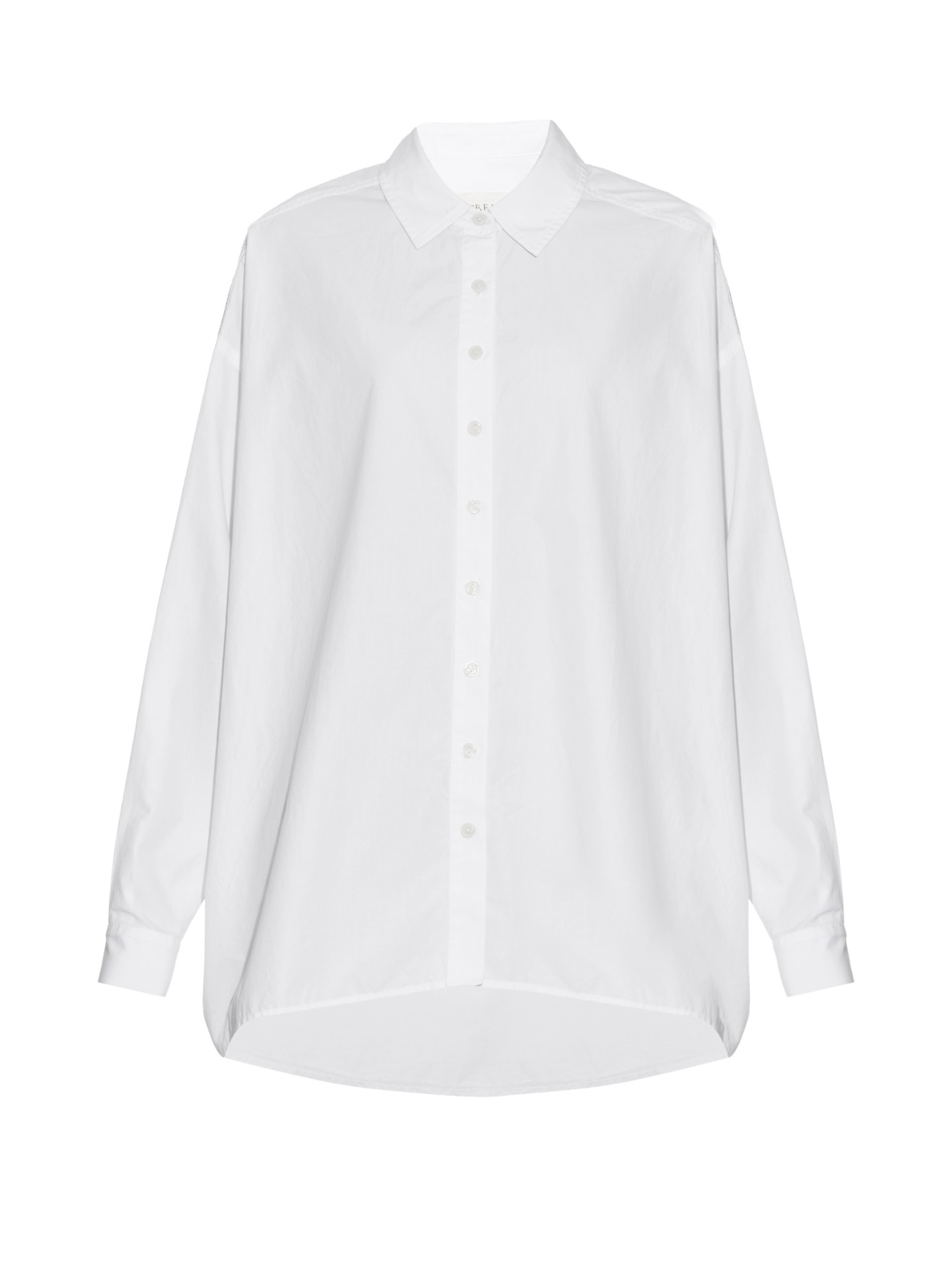 The Great The Big Cotton Poplin Shirt In White Lyst