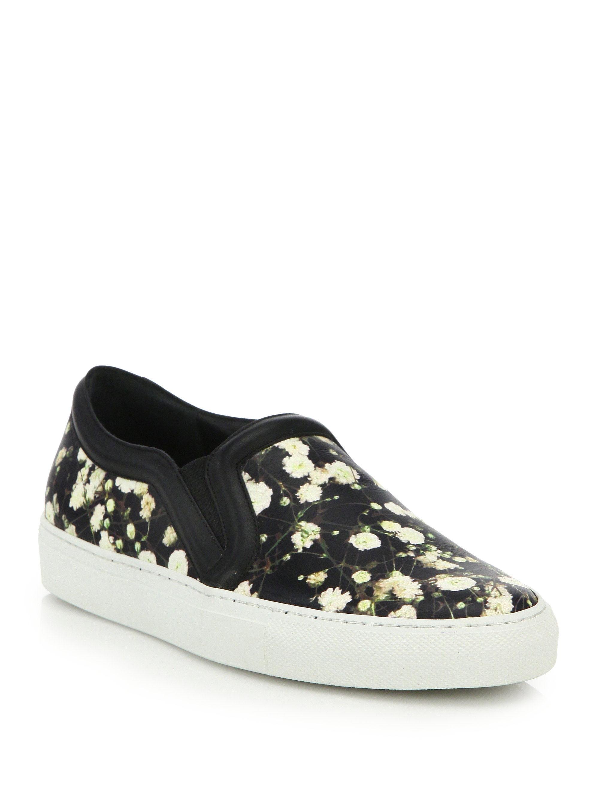 Lyst Givenchy Baby s Breath Printed Leather Skate Sneakers
