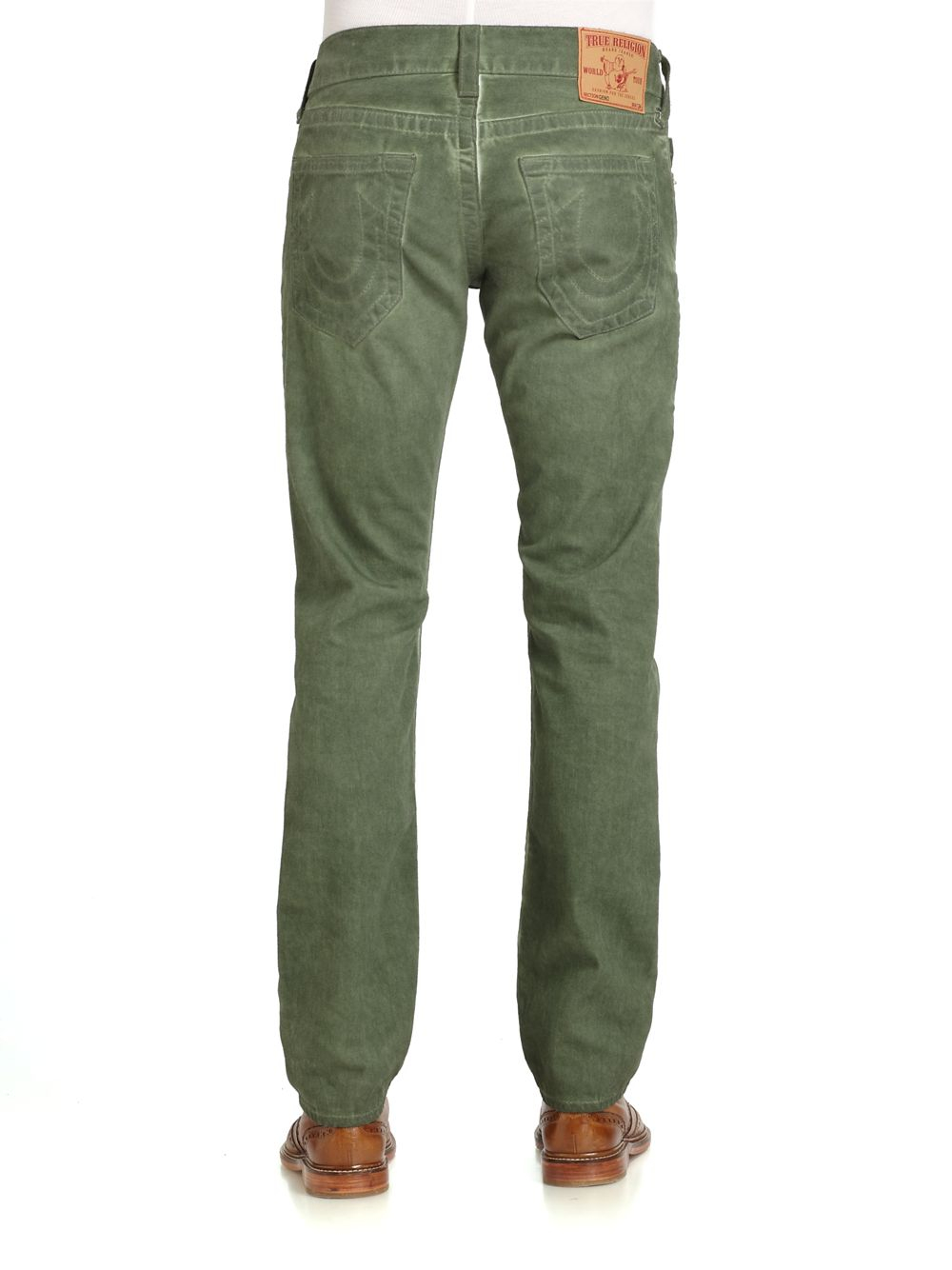 True religion Coldpressed Cotton Denim Jeans in Green for ... - photo#8