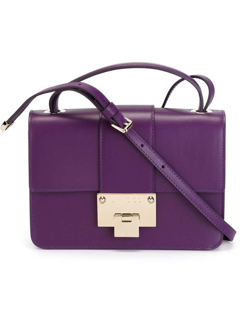 a29beb143c Lyst - Jimmy Choo  rebel  Crossbody Bag in Purple