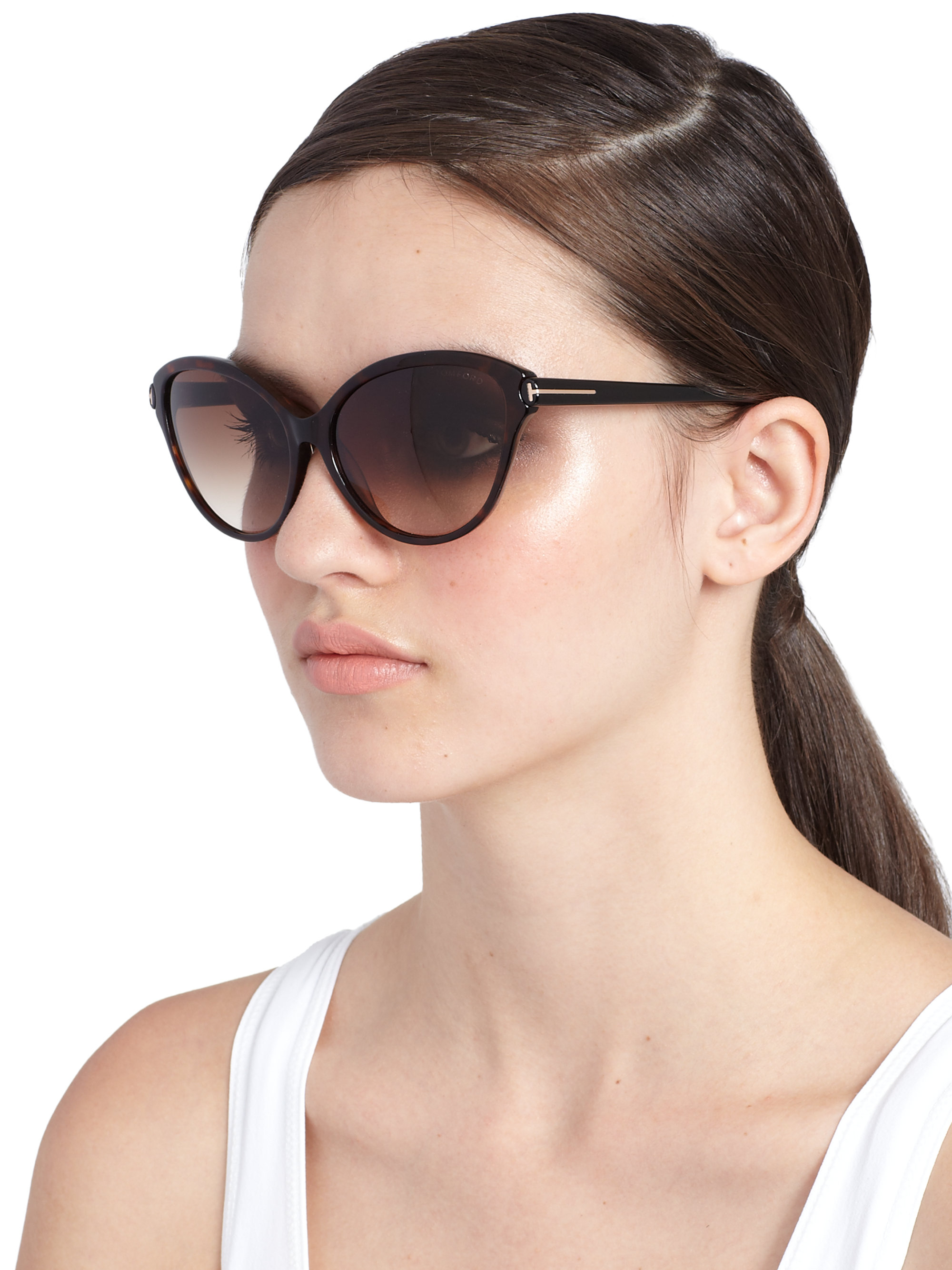 2302be84b03 Gallery. Previously sold at  Saks Fifth Avenue · Women s Tom Ford Cat Eye  ...