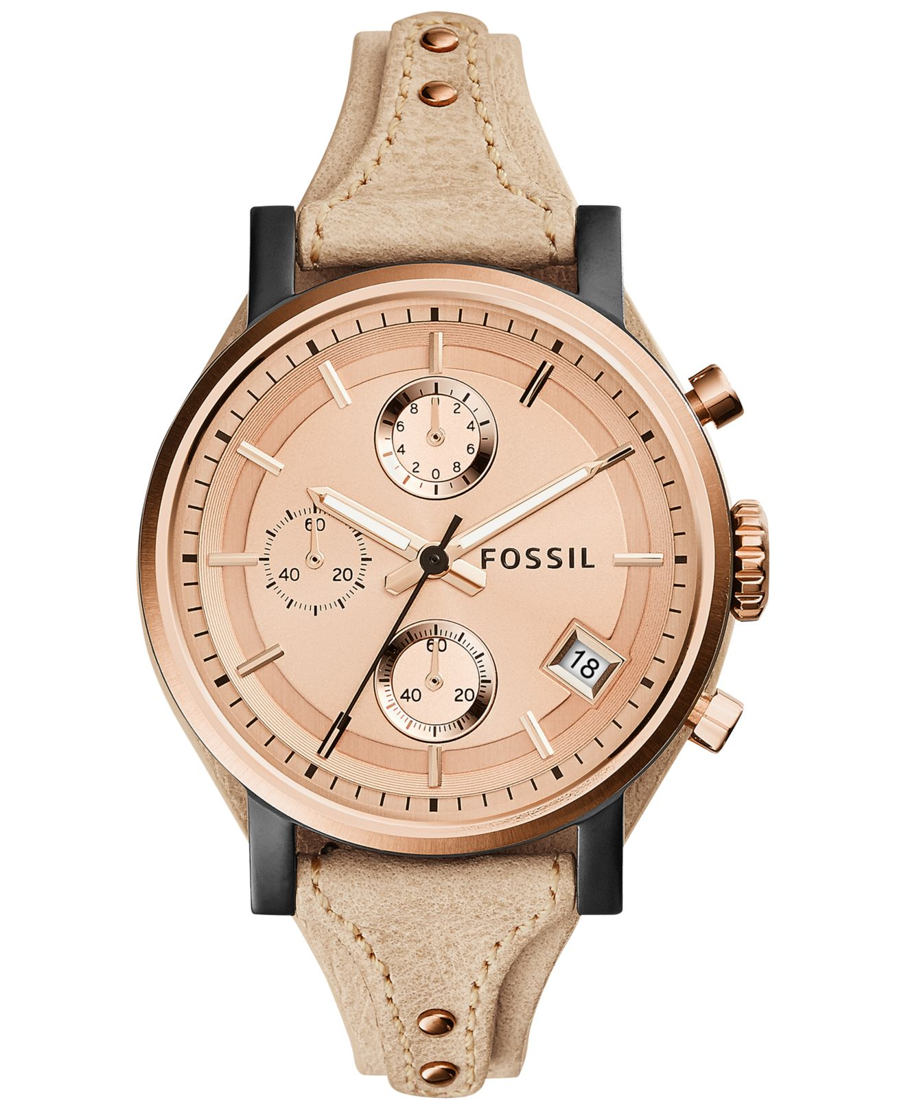 color and watch fossil leather a watches sand pick clothes fossils jacqueline pin