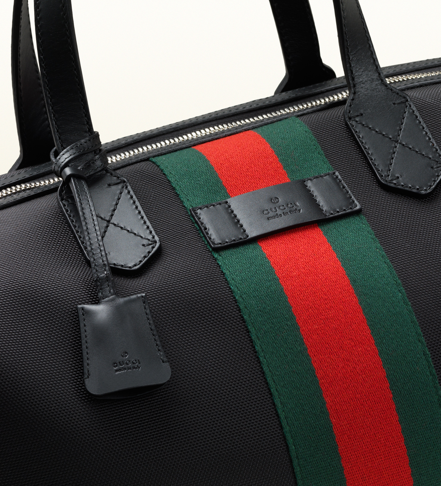 f4c20dc9be8 Gucci Techno Canvas Duffle Carry-on Bag in Black for Men - Lyst