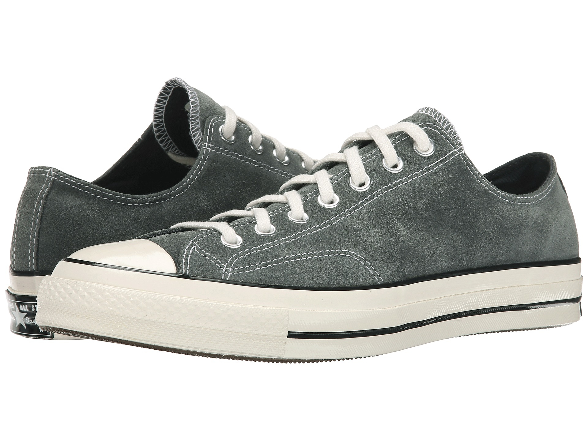 3f3cb3b6918e Lyst - Converse Chuck Taylor® All Star® 70 Ox Suede in Gray for Men