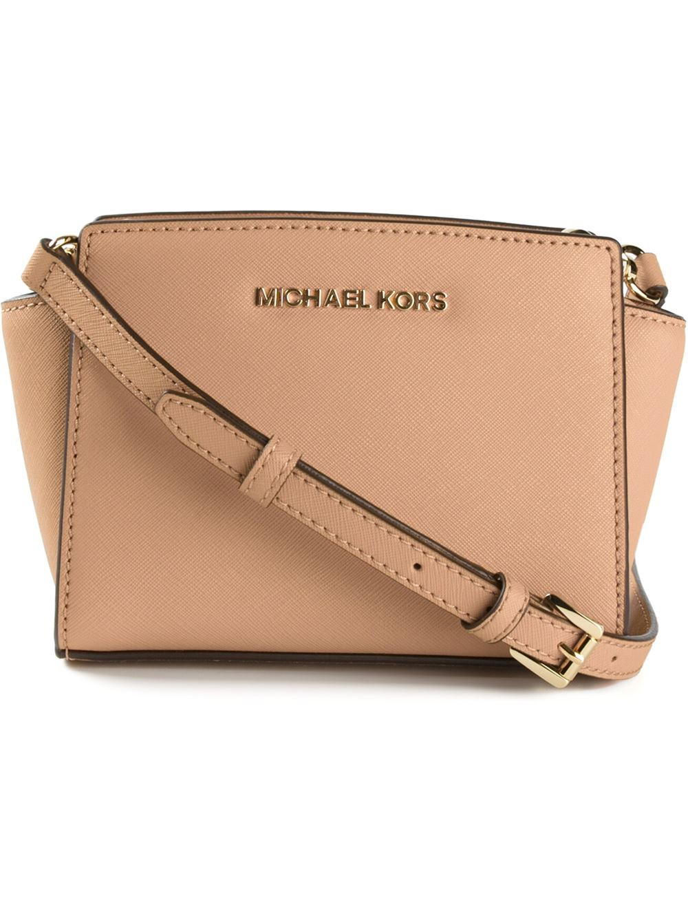 e6459876fed3 MICHAEL Michael Kors Mini Selma Cross Body Bag in Natural - Lyst