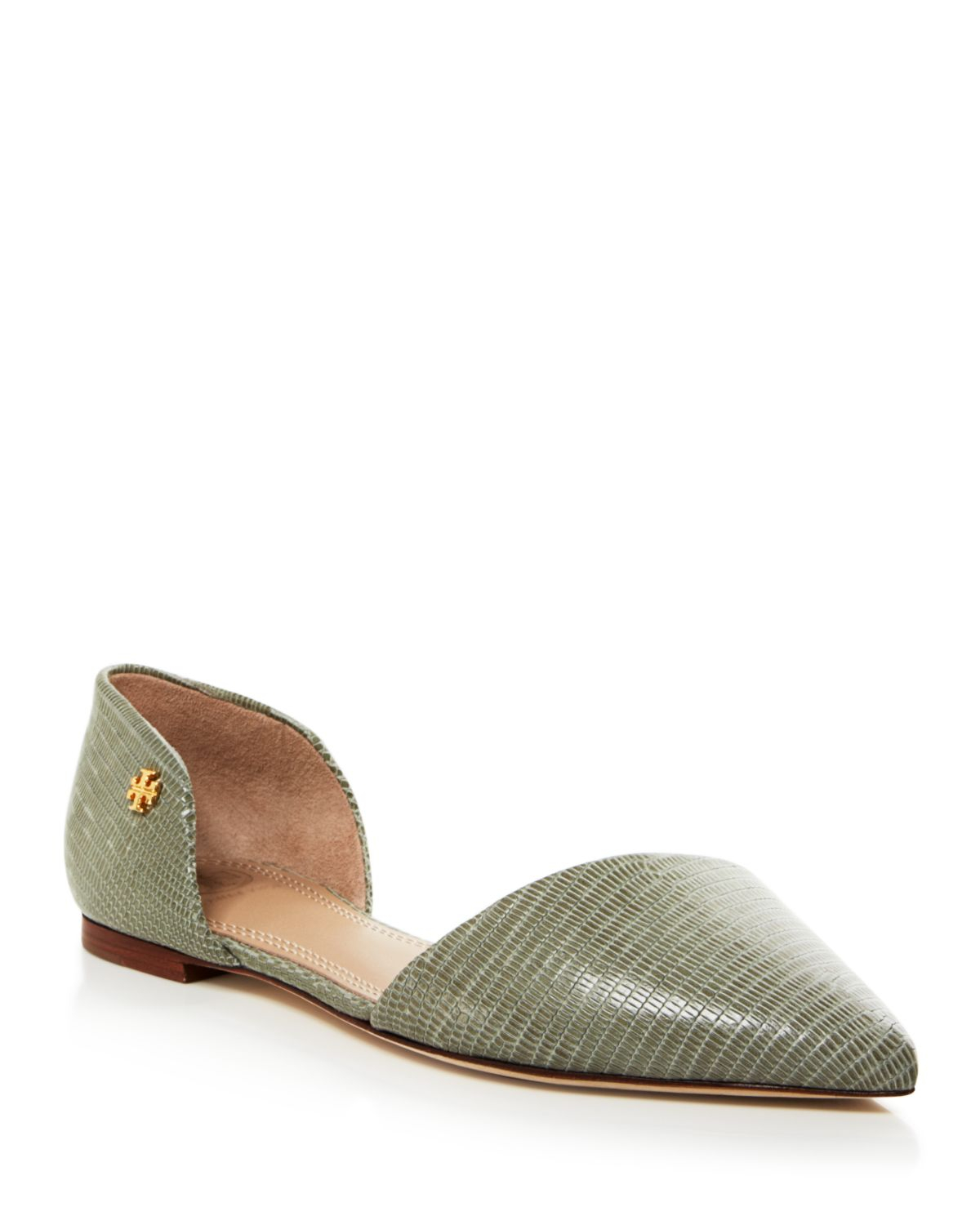 aa7bc75a6750 Lyst - Tory Burch Pointed Toe D orsay Flats - Viv in Gray