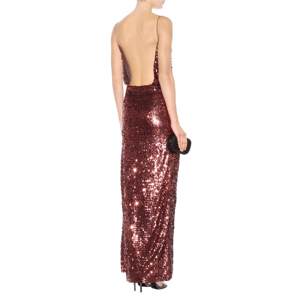 Lyst - Tom Ford Sequin-Embellished Gown in Purple