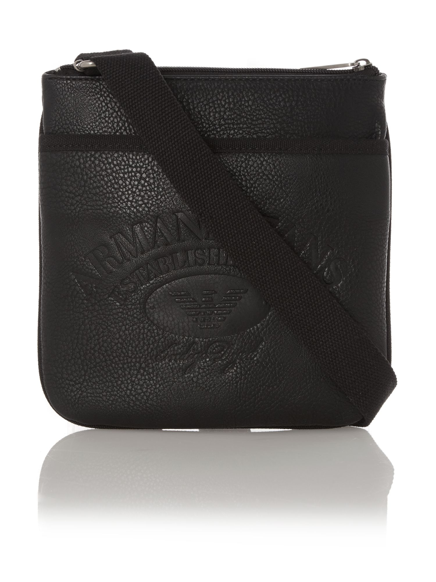Armani Jeans Large Logo Small Man Bag In Black For Men Lyst. Armani Jeans  Pvc Shoulder Bag Nero Black Women Wallet House Of Fraser d42b5e1f8b4c5