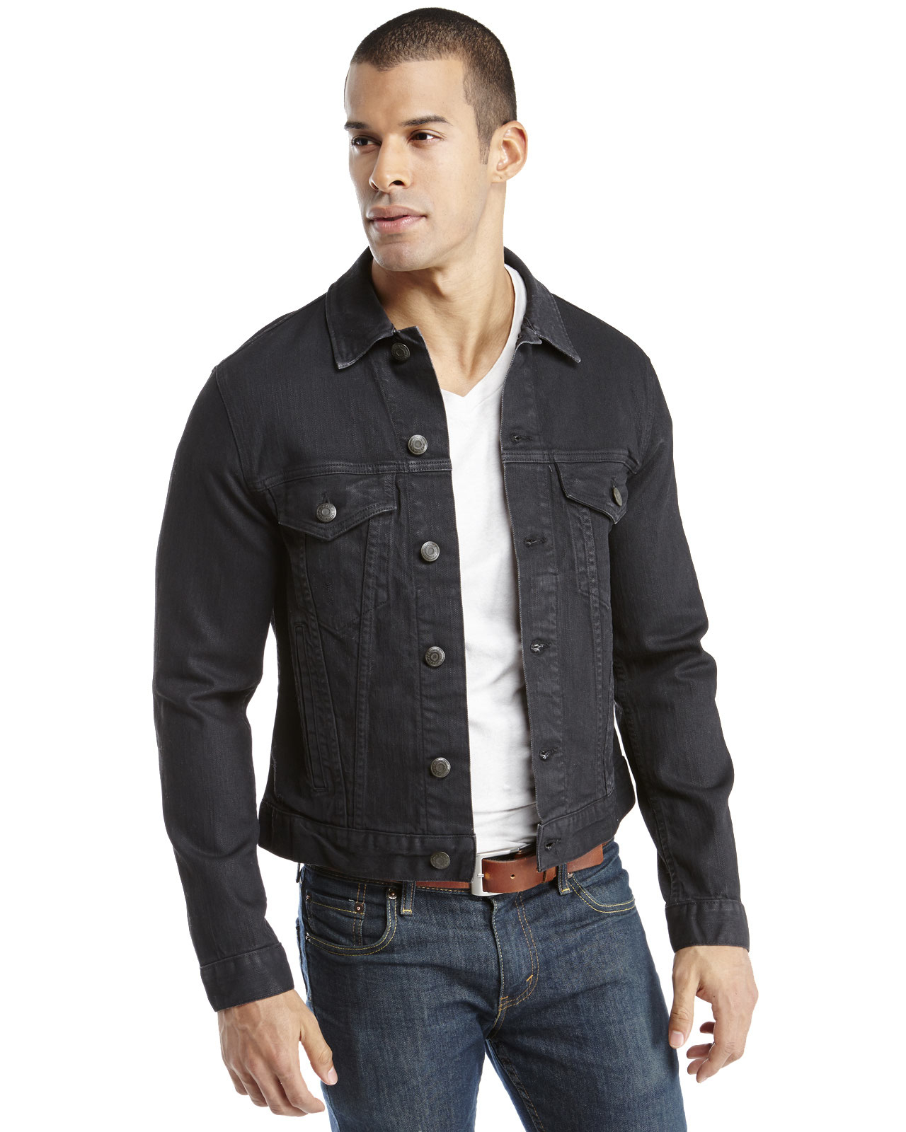 Men Black Denim Jacket - My Jacket