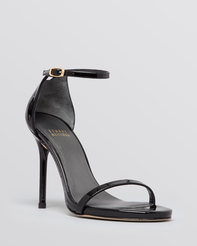 Black Open Toe High Heels