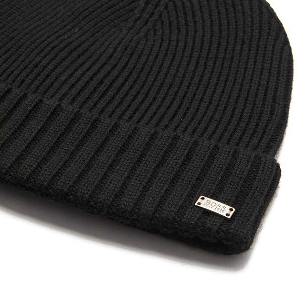 BOSS Men s Fati Beanie Hat in Black for Men - Lyst 403f8891a13b