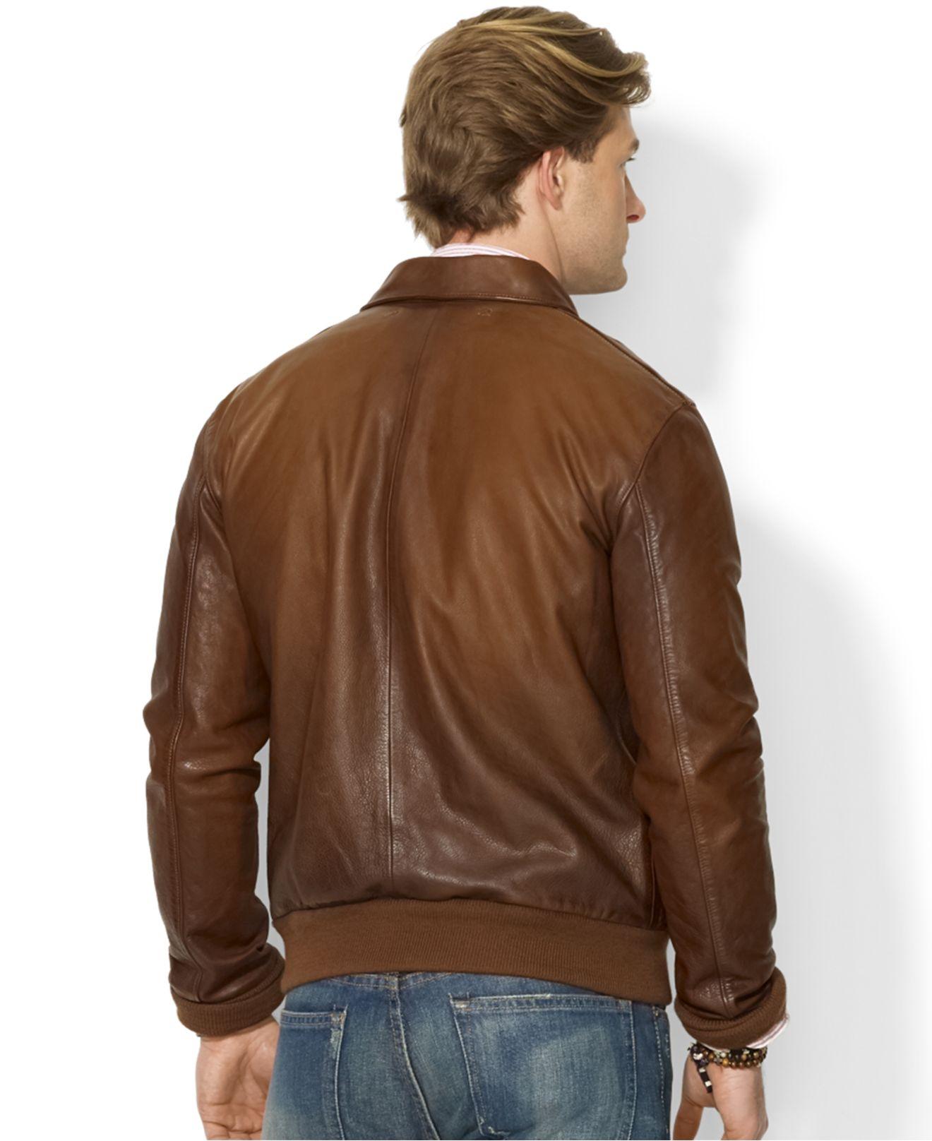 For Polo Men Ralph Lauren Lyst Farrington Bomber In Jacket Brown vw8Wqdg