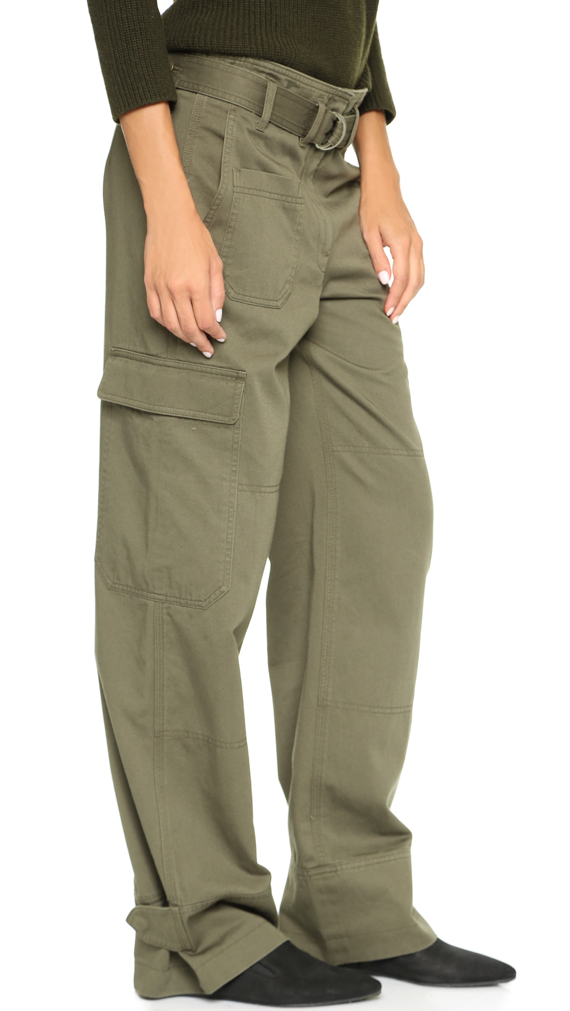 Olive Green Pants for Ladies
