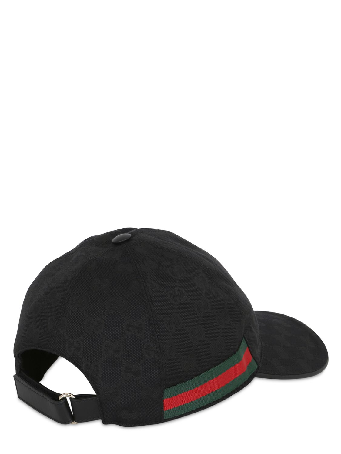 ded2b152c86 Gucci Web   Gg Jacquard Baseball Hat in Black for Men - Lyst