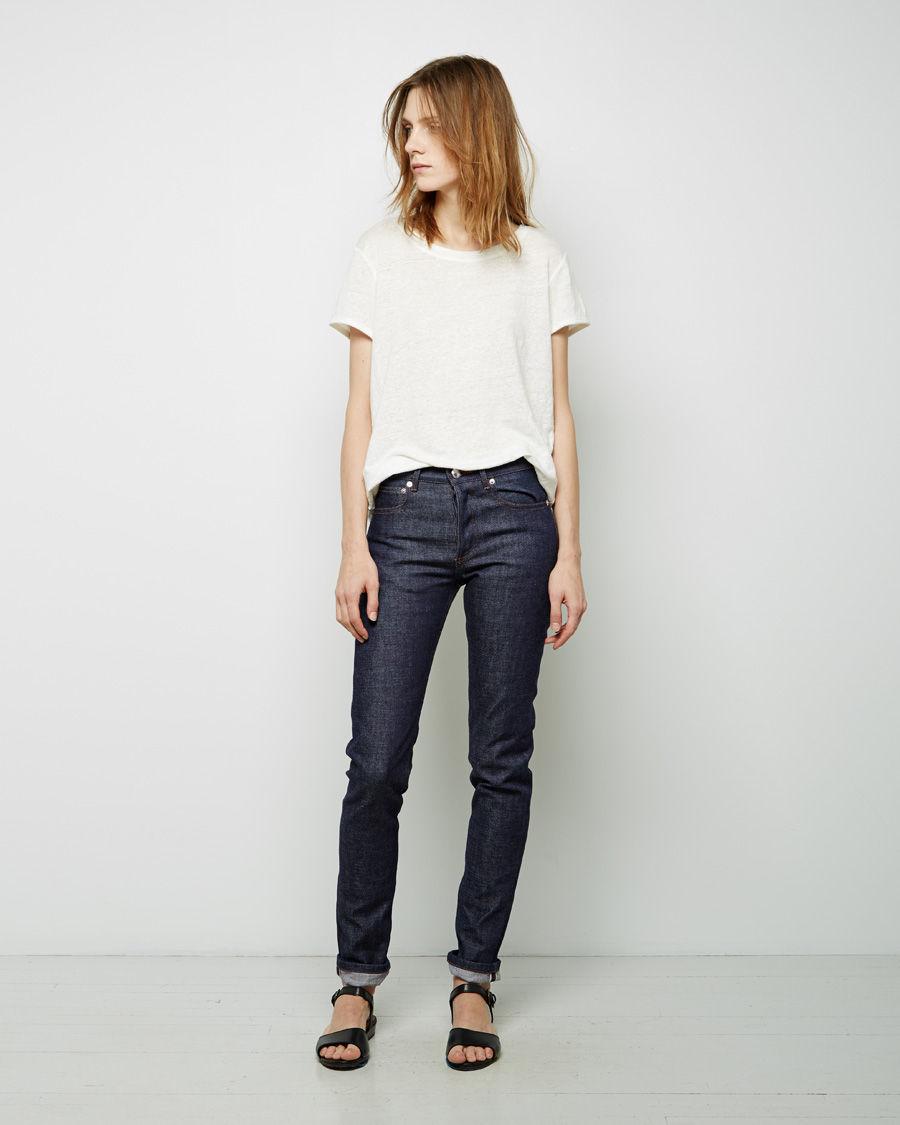 a p c petit new standard jean in blue lyst. Black Bedroom Furniture Sets. Home Design Ideas