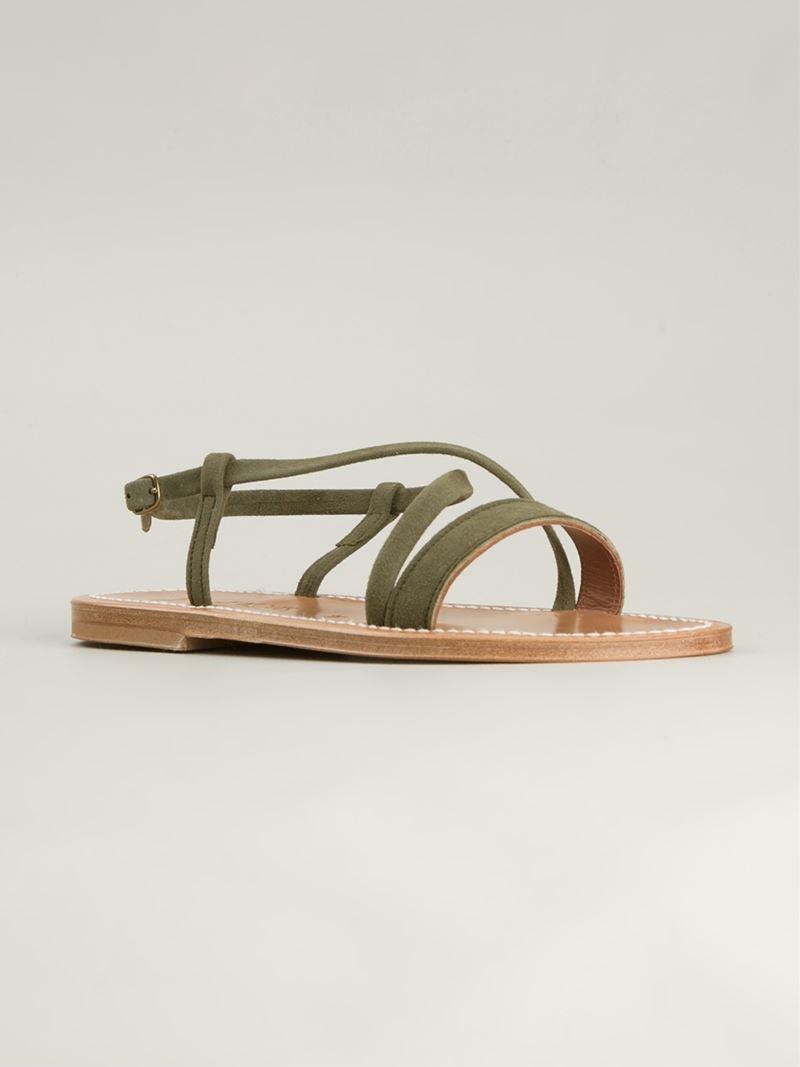 K. K. Jacques Flavia Epicure Sandals - Green Sandales Flavia De Jacques Epicure - Vert VG218U