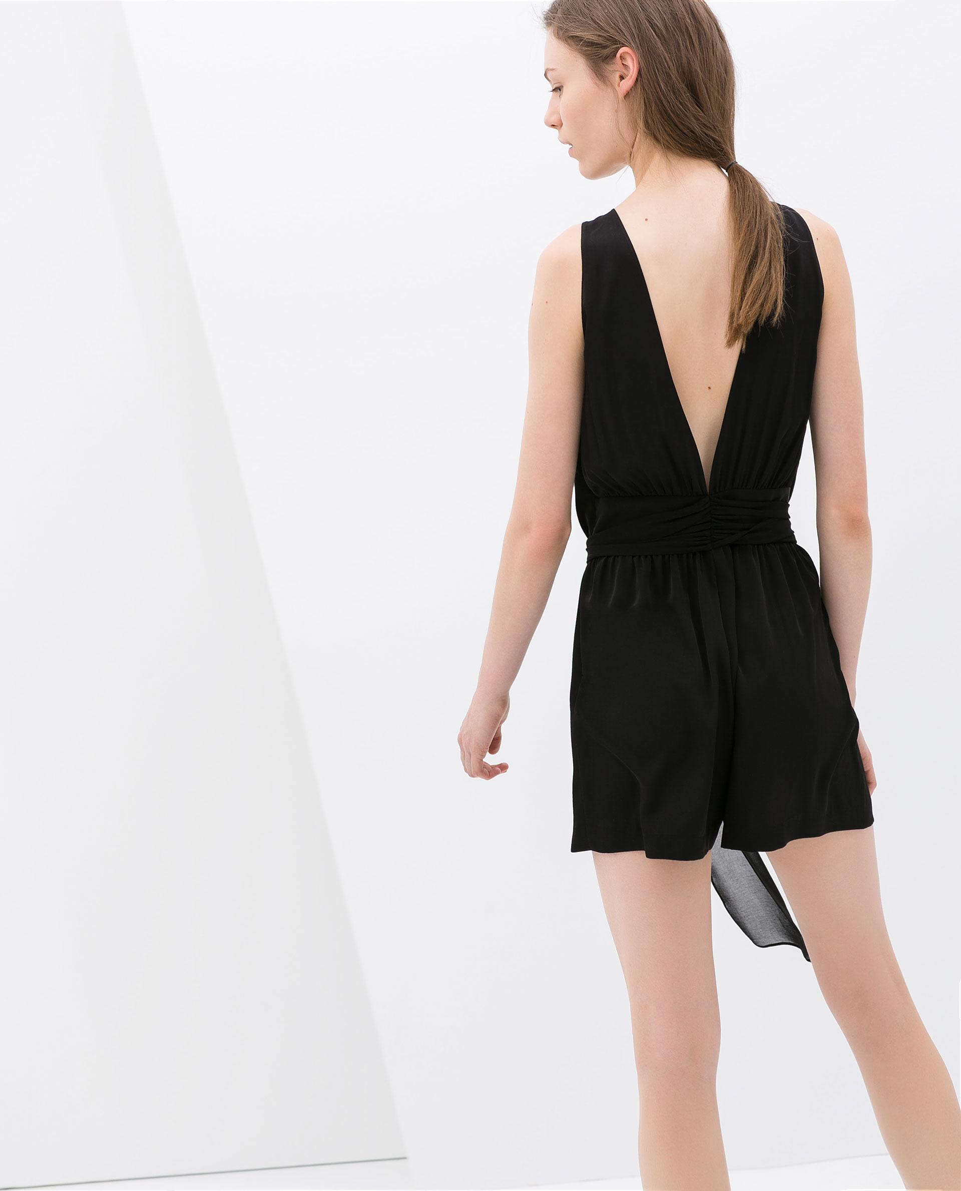 Zara backless dress black
