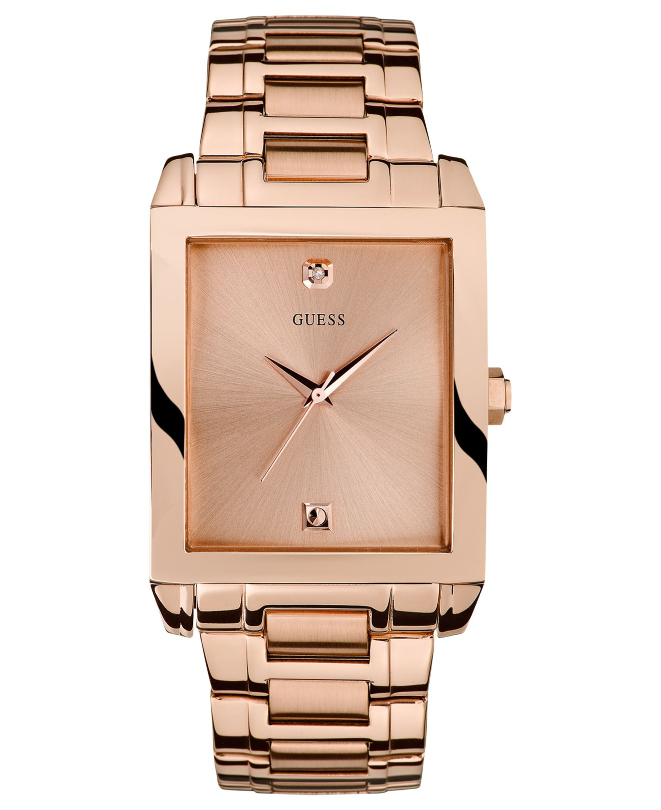 guess rose gold diamond watch cool costume jewelry for you