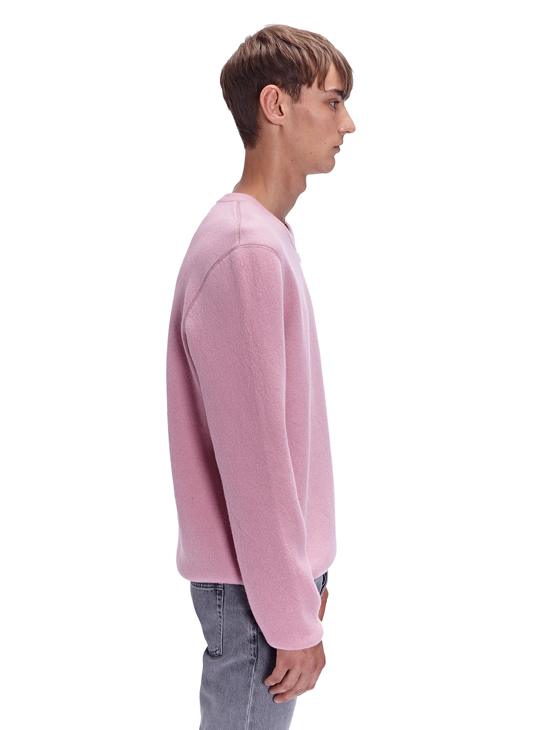 Lanvin Mens Bicolour Crew Neck Wool Sweater in Pink for Men | Lyst