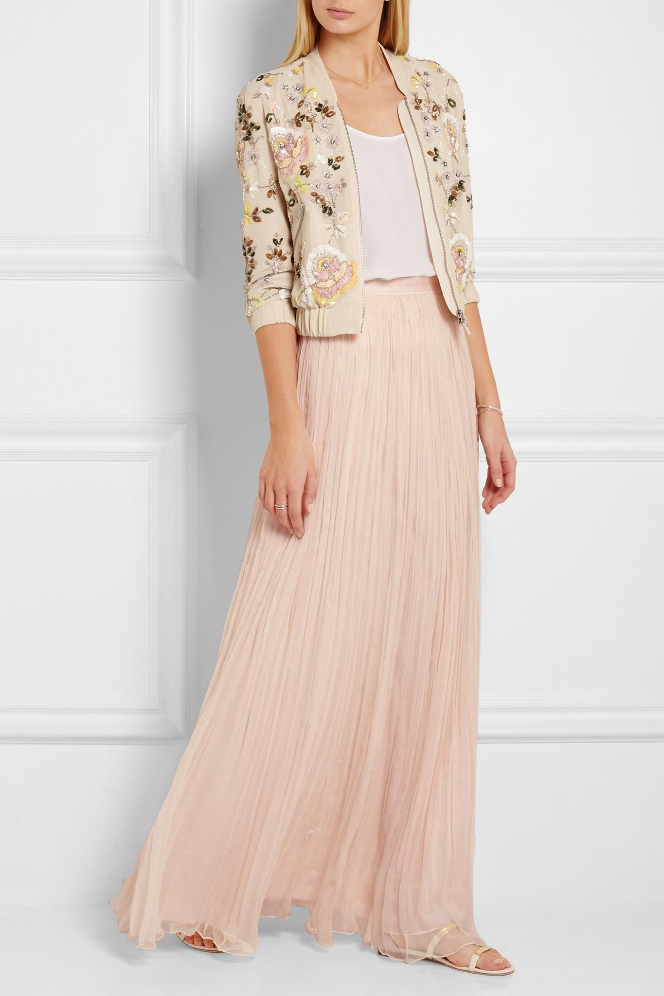Gallery - Needle & Thread Crinkled-chiffon Maxi Skirt In Blue Lyst