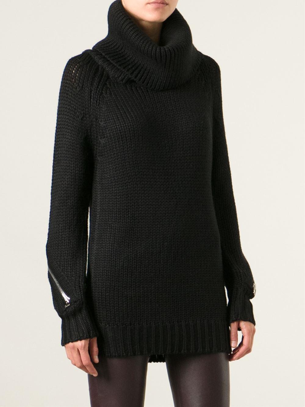hotel particulier turtleneck sweater in black lyst. Black Bedroom Furniture Sets. Home Design Ideas