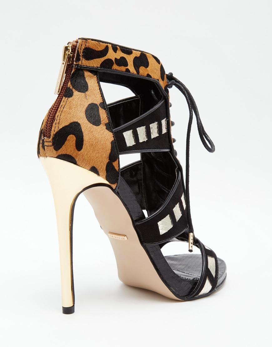 0f703f44bb2 Lyst - Carvela Kurt Geiger Giraffe Leopard Print Heeled Sandals