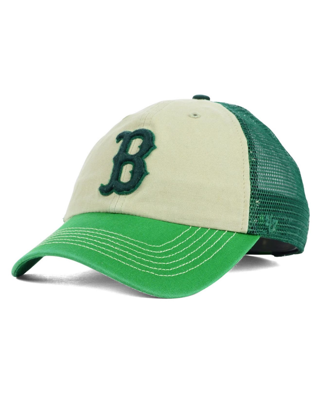 buy online 36482 fb237 ... where can i buy lyst 47 brand boston red sox mcnally clean up cap in  green