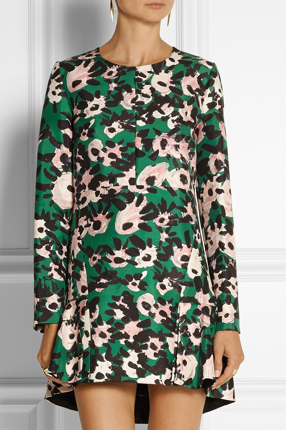 Marni Silk-Blend Mini Dress Sale High Quality Cheap Sale Low Price Fee Shipping Cheap Geniue Stockist Footlocker Pictures Online Discount Affordable pgXa0ed50V