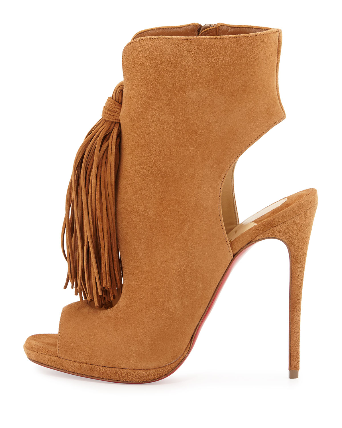 e6d367014b19 Lyst - Christian Louboutin Ottaka Fringed-Suede Boots in Brown