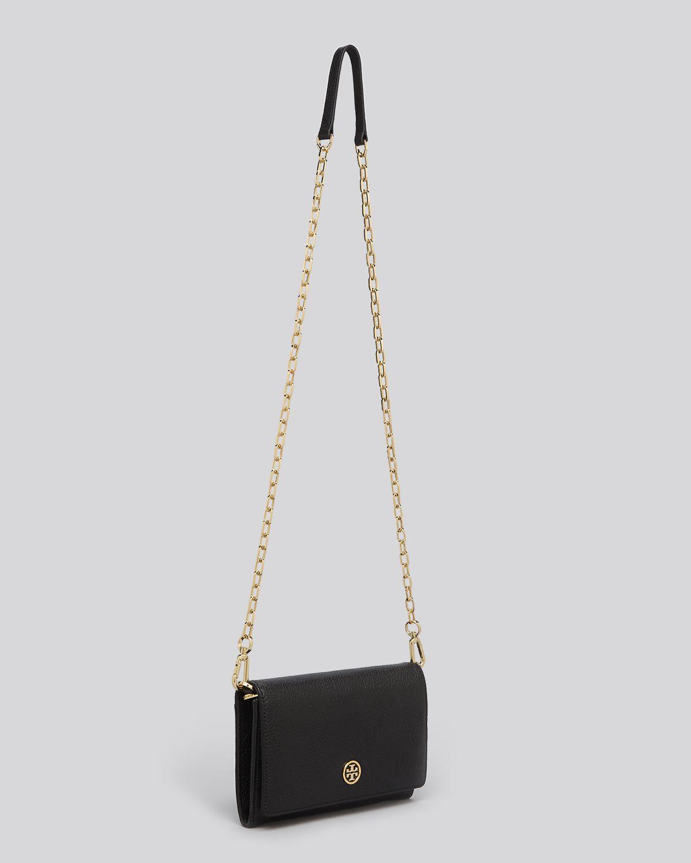 39d20e810326 Tory Burch Mini Bag Robinson Chain Wallet in Black - Lyst