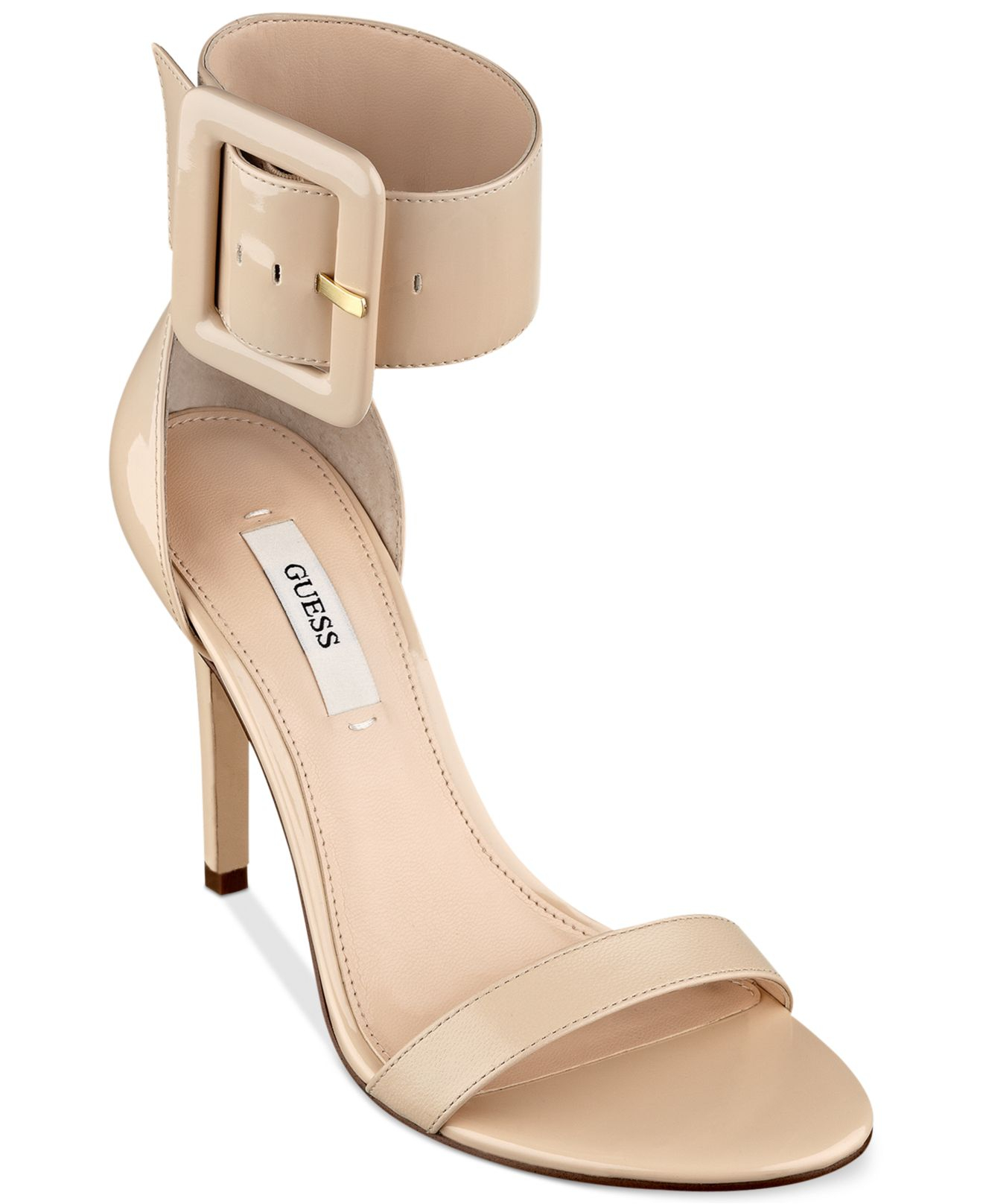 56622ac4c2b02 Lyst - Guess Odeum Two Piece Sandals in Natural