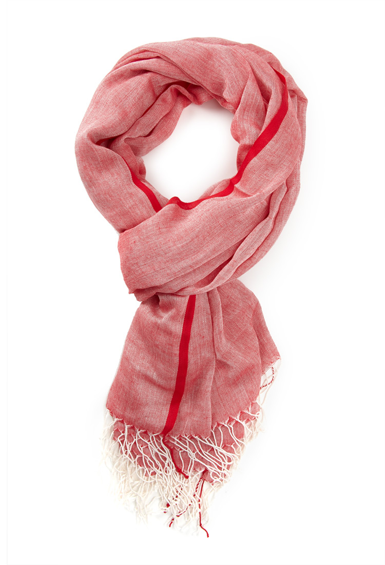 forever 21 heathered fringe scarf in lyst