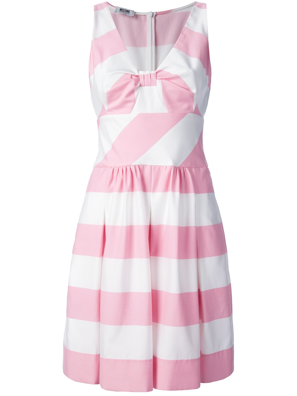 7acd896f404 Boutique Moschino Striped Dress in Pink - Lyst
