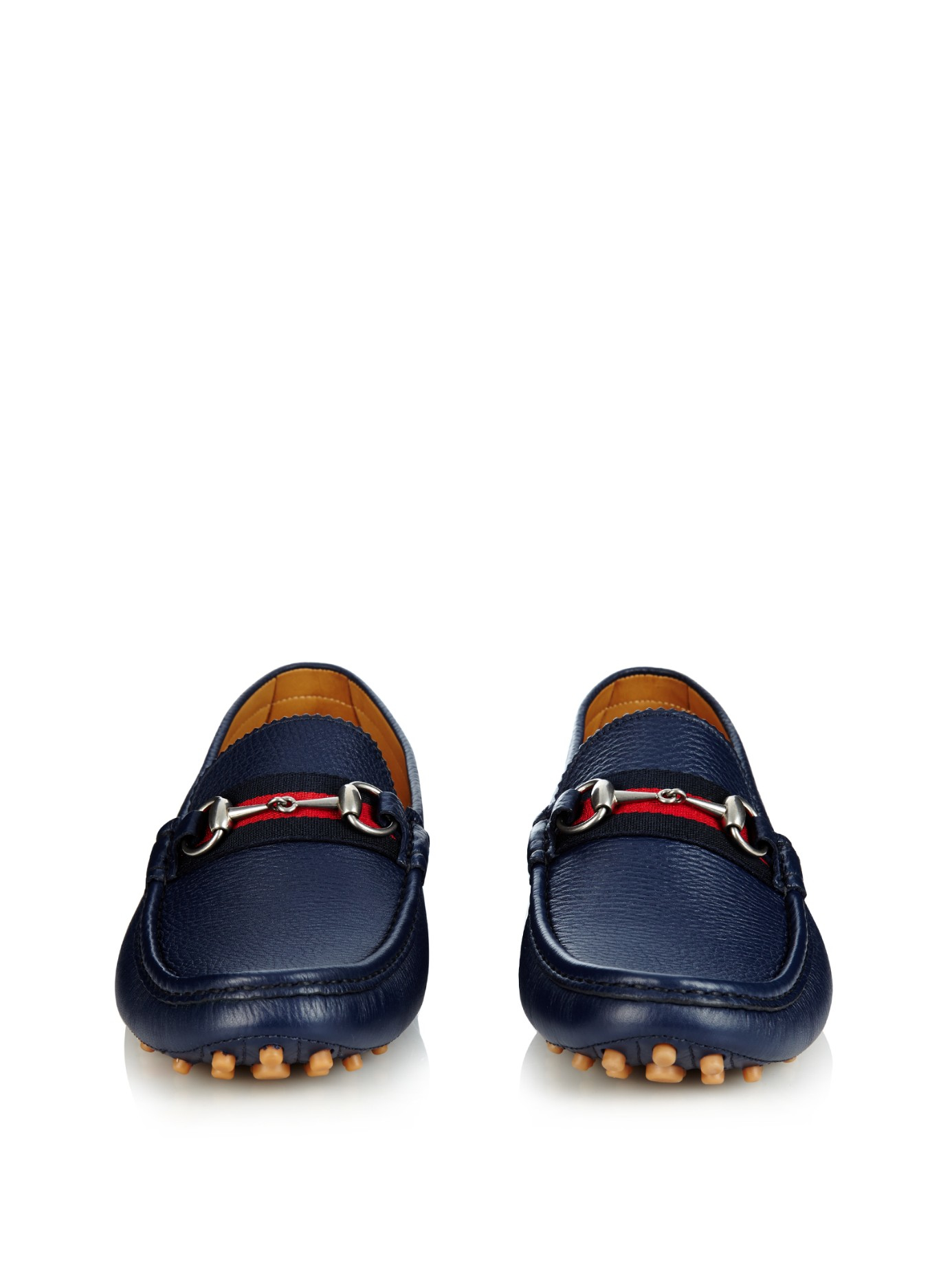 23716c72f69c0b Gucci Damo Leather Loafers in Blue for Men - Lyst