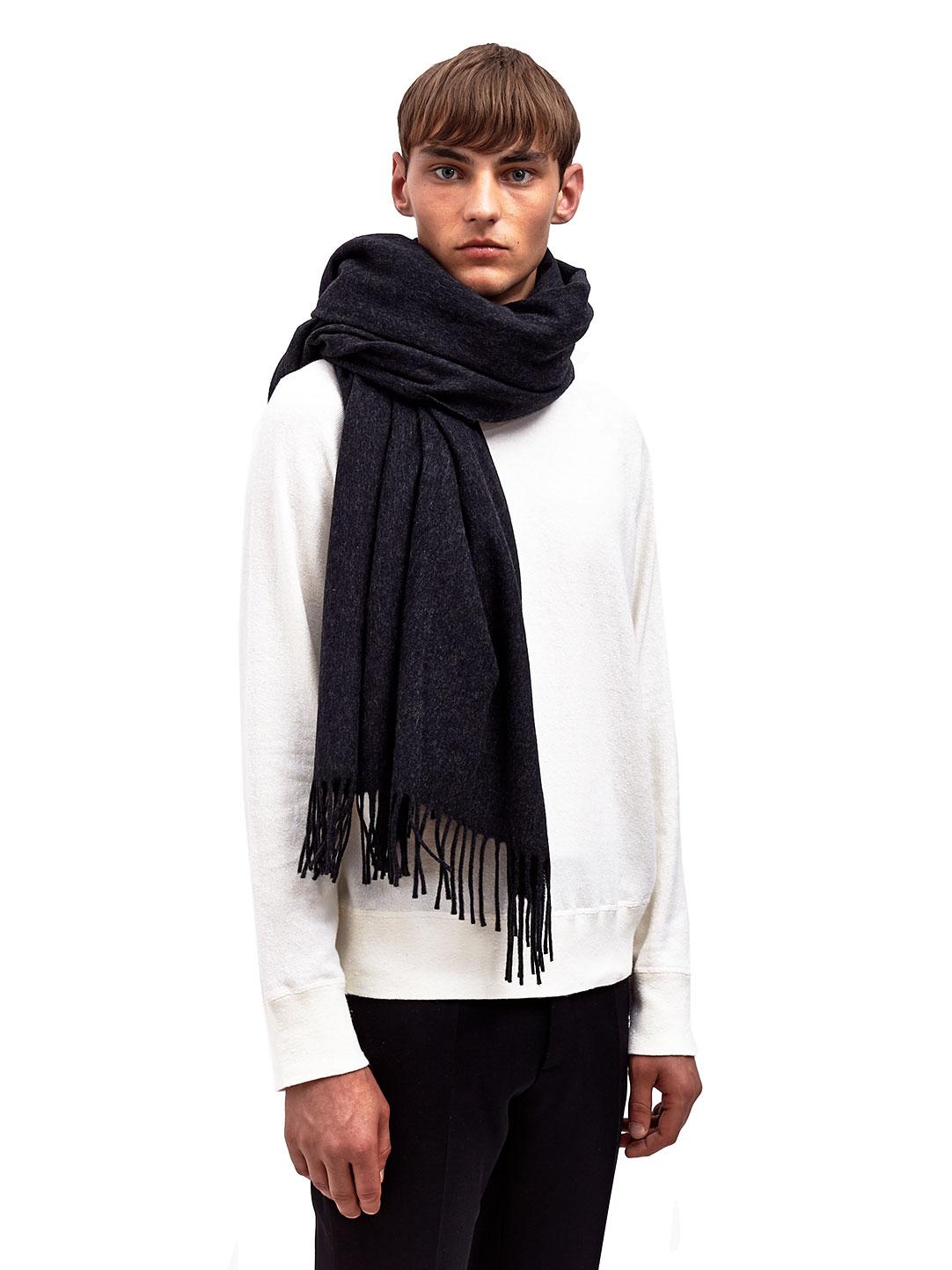 acne studios mens alaska big squared scarf in black for