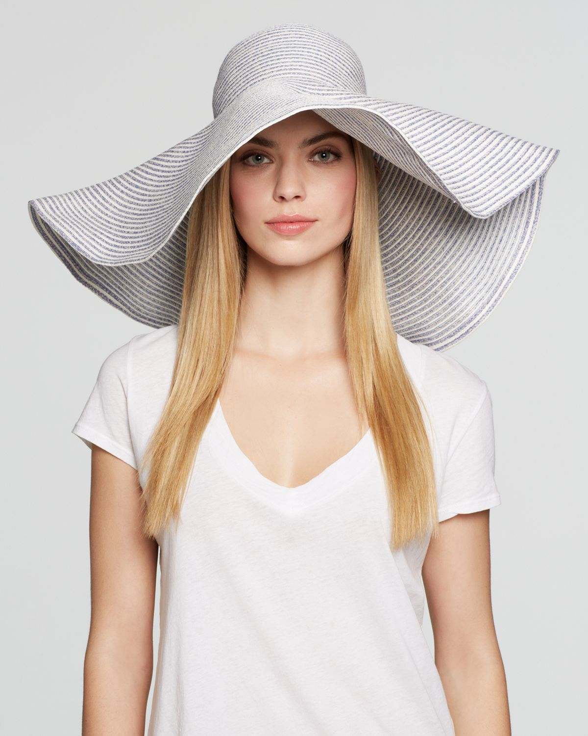 62e148e2bd52a0 Aqua Extra Large Floppy Wired Brim Hat - Bloomingdale's Exclusive in ...